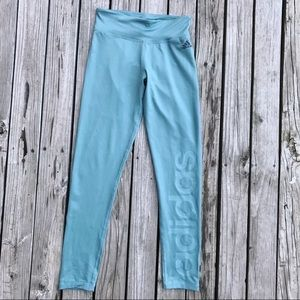Adidas Logo Teal Leggings